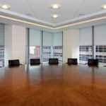 Draper FlexShades in a conference room at 7 World Trade Center, New York.