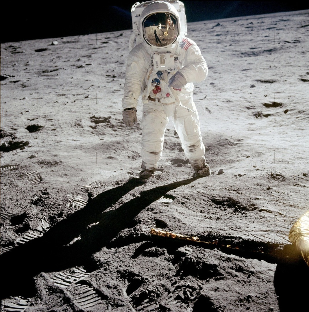 Neil Armstrong And Buzz Aldrin On The Moon