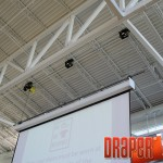 TorkStar Utility Line Hoist, used here to support a projection screen.