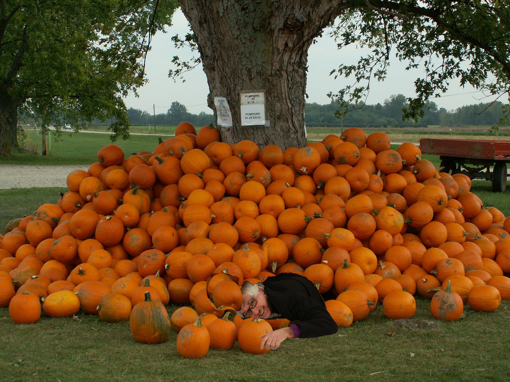 Buried Under Pumpkins