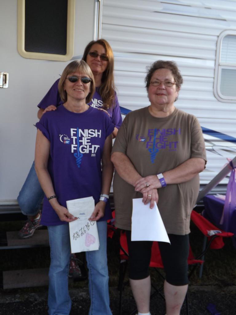 Team Draper captains  Cindy Witsman (left front), Barbara Steele, and Sharla Massengale (back).