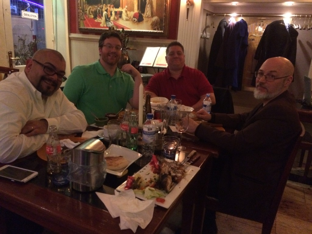 The AV Nation ISE 2015 crew (form left): Chris Neto, Bill O'Donnell, Tim Albright, and George Tucker.