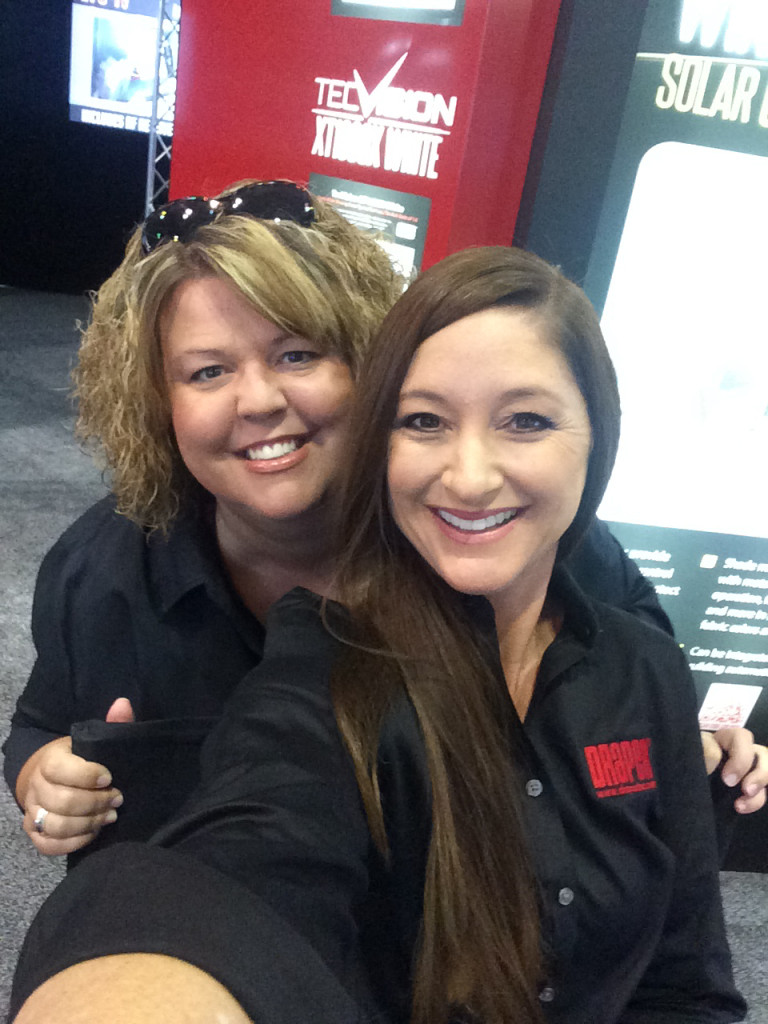Amy Madden (left), with Gretchen Donaldson at InfoComm 2015.